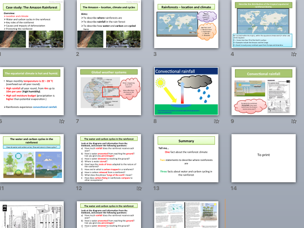 AQA A Level Climate Change Case Study - The Amazon