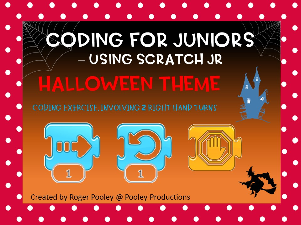 Halloween Coding for Juniors – Using Scratch Jr, making right hand turns