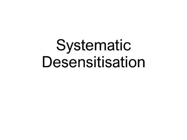 EDEXCEL AS PSYCHOLOGY SYSTEMATIC DESENSITISATION