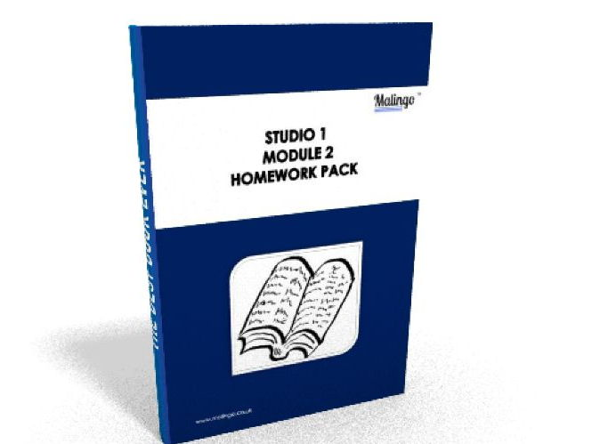 Studio 1 module 2 Mon collège homework pack support material