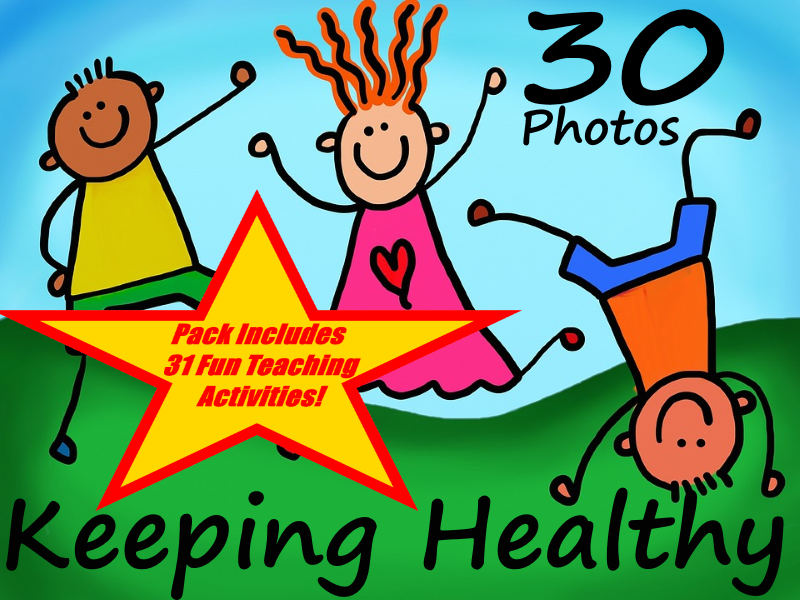 30 Photos About Keeping Healthy + 31 Fun Teaching Activities For These Cards