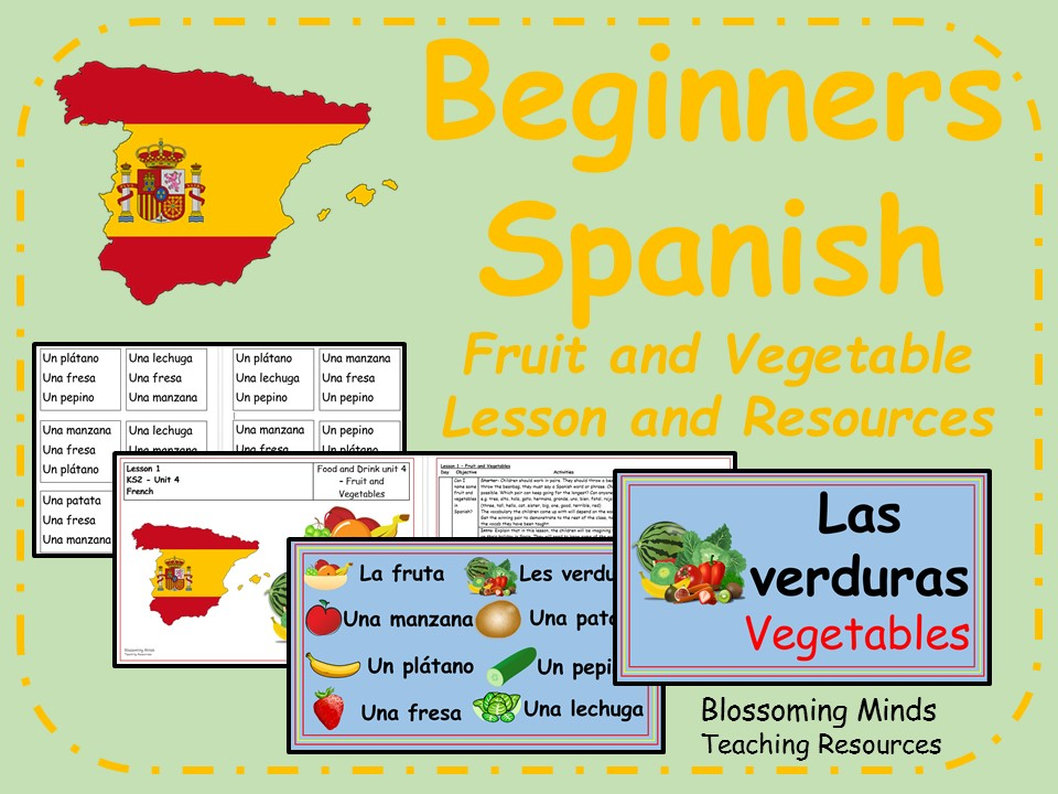 Spanish lesson and resources - KS2 - Fruit and Vegetables
