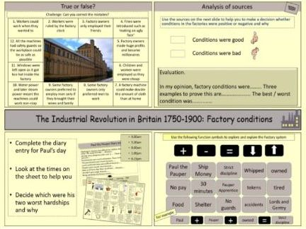 The Industrial Revolution: Working conditions in the factories