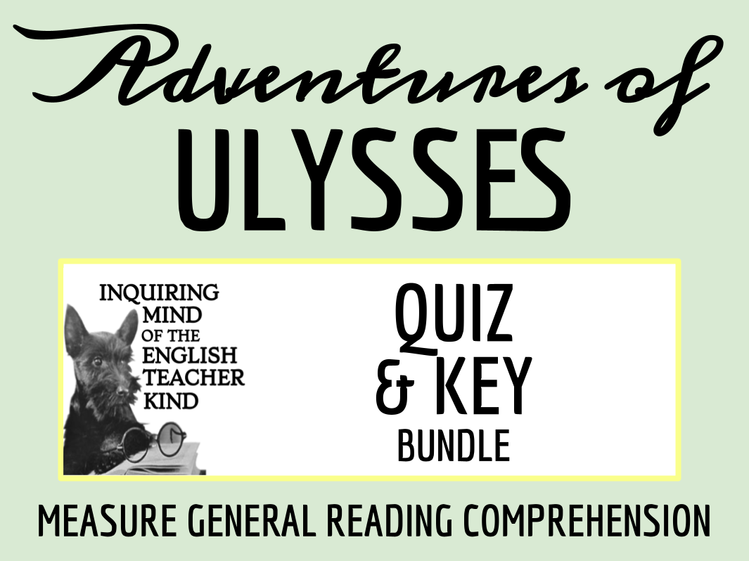 Adventures of Ulysses Quiz & Key Bundle