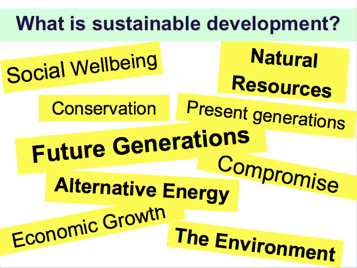 What is Sustainable Development? Sustainability.