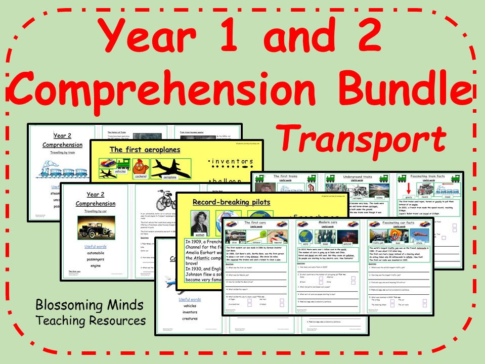 Year 1 and 2 Comprehensions Bundle - Transport