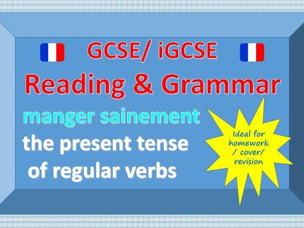 Reading and Grammar - Regular Present Tense - Healthy Eating