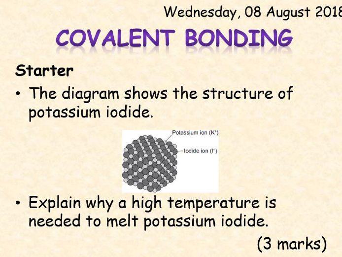 AQA Chemistry Topic 3: Covalent Bonding