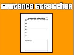 Sentence Stretcher Graphic Organizer (Editable in Google Docs)