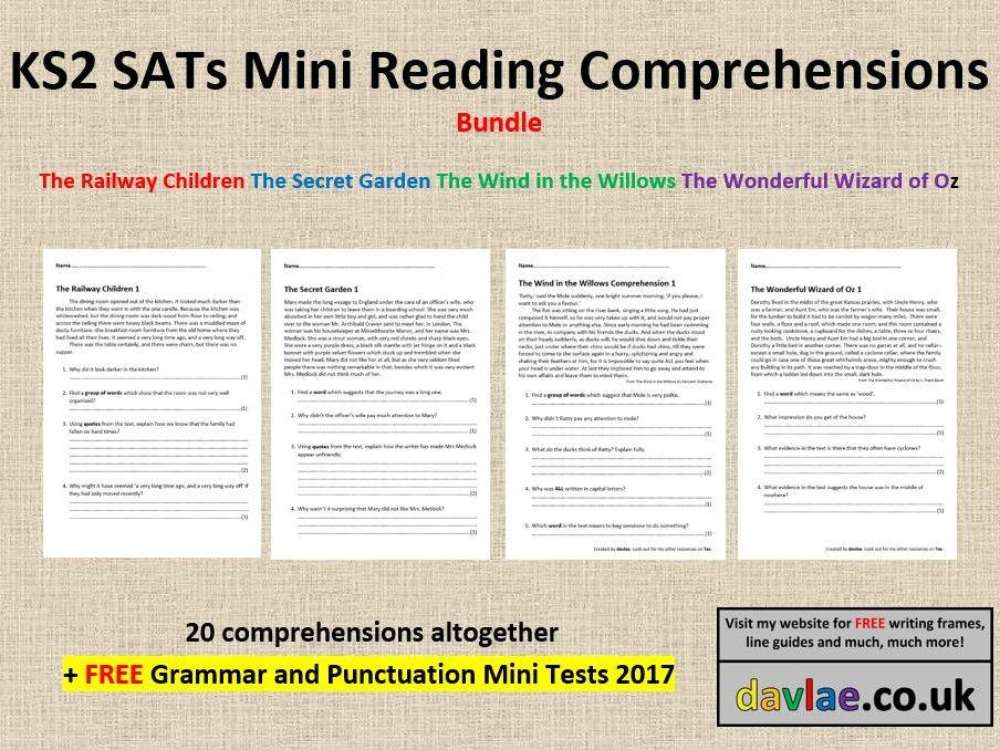 Mini Reading Prehensions Bundle