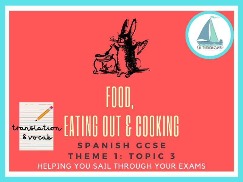 Food Translation & Vocab: GCSE Spanish Theme 1: Topic 3