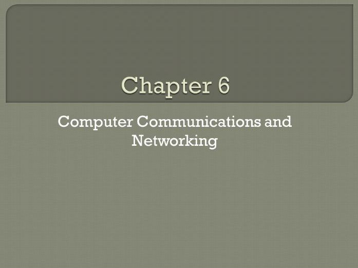GCSE Computing: Chapter 6 - Computer Communications and Networking (Revision)