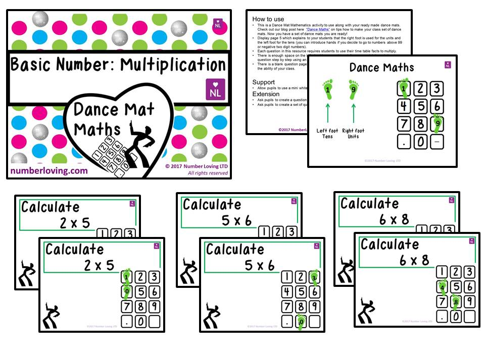 Basic Multiplication (Dance Mat)