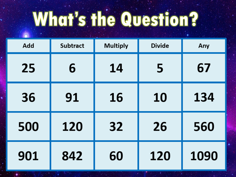 What\'s the Question - Engaging and Adaptable MATHS starter! ANY AGE ...