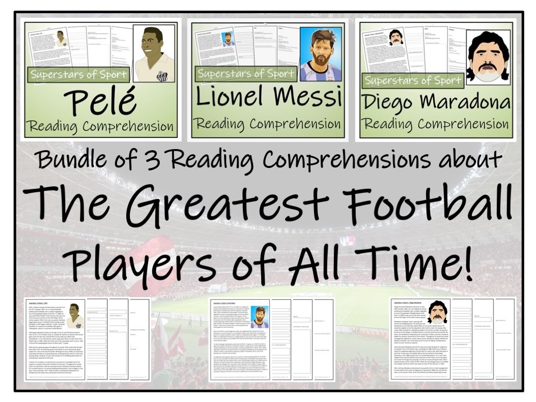 UKS2 Literacy  - Greatest Footballers Bundle of Reading Comprehensions
