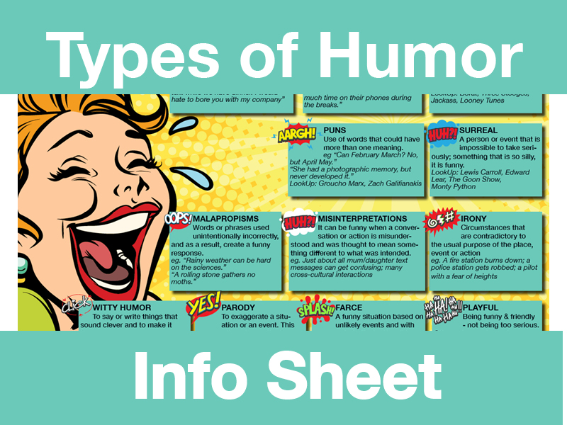 12 Types of Humor **Info Sheet**