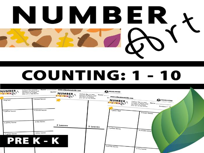 Number Art - Outdoor Counting Activity