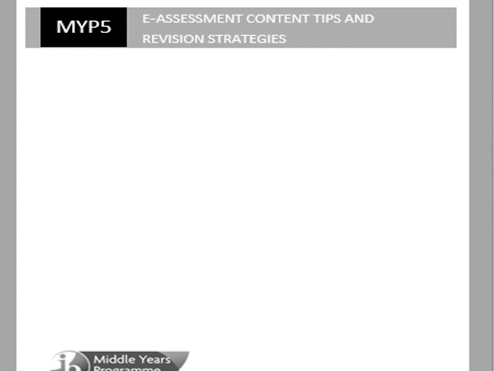 MYP e-assessment Guide