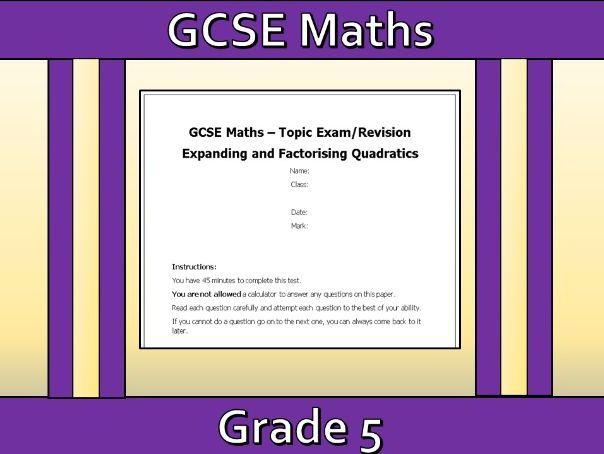 GCSE Maths Expanding and Factorising Quadratics