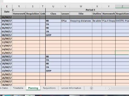 Planning Database Template 5 Period 2 Week Timetable By Dobby1303