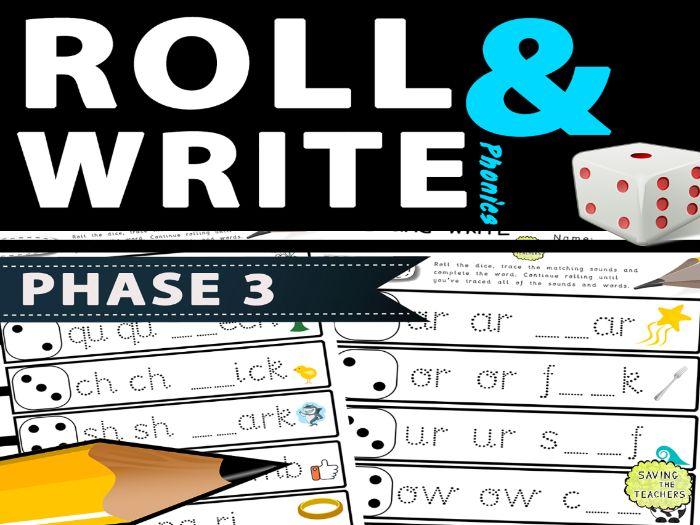 Phase 3 Phonics Handwriting Dice Game