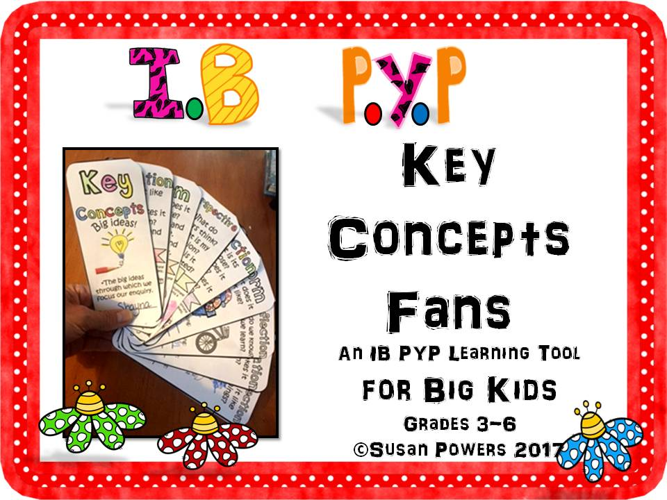 Back to School IB PYP Key Concepts Fans for Big Kids
