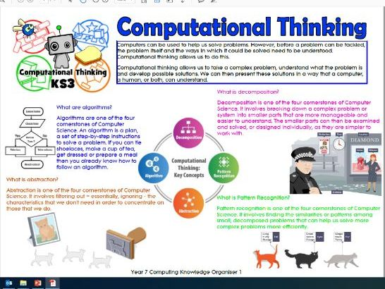 Knowledge Organiser Computational Thinking
