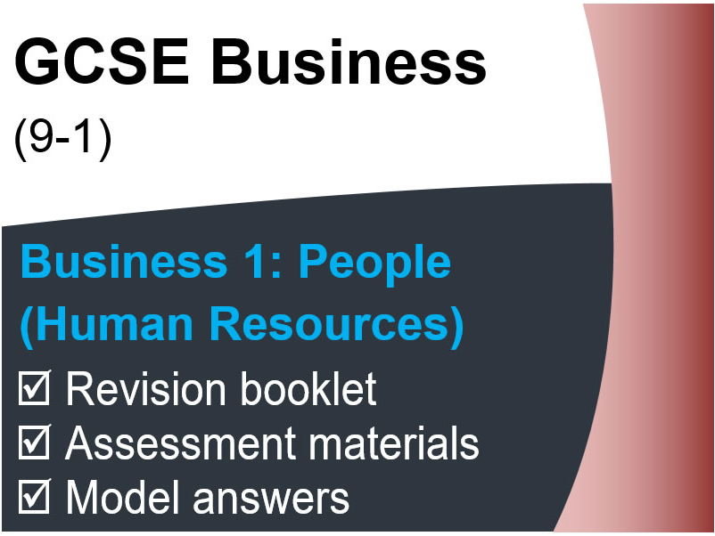 GCSE Business (9-1) OCR – People (Human Resources) - Assessment & Revision resource pack