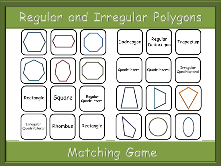 Polygons Matching game