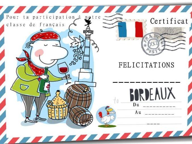 General French certificate 11/ Certificat de francais 11
