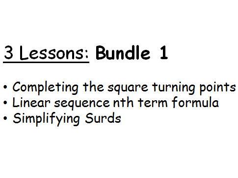 3 lessons Bundle 1