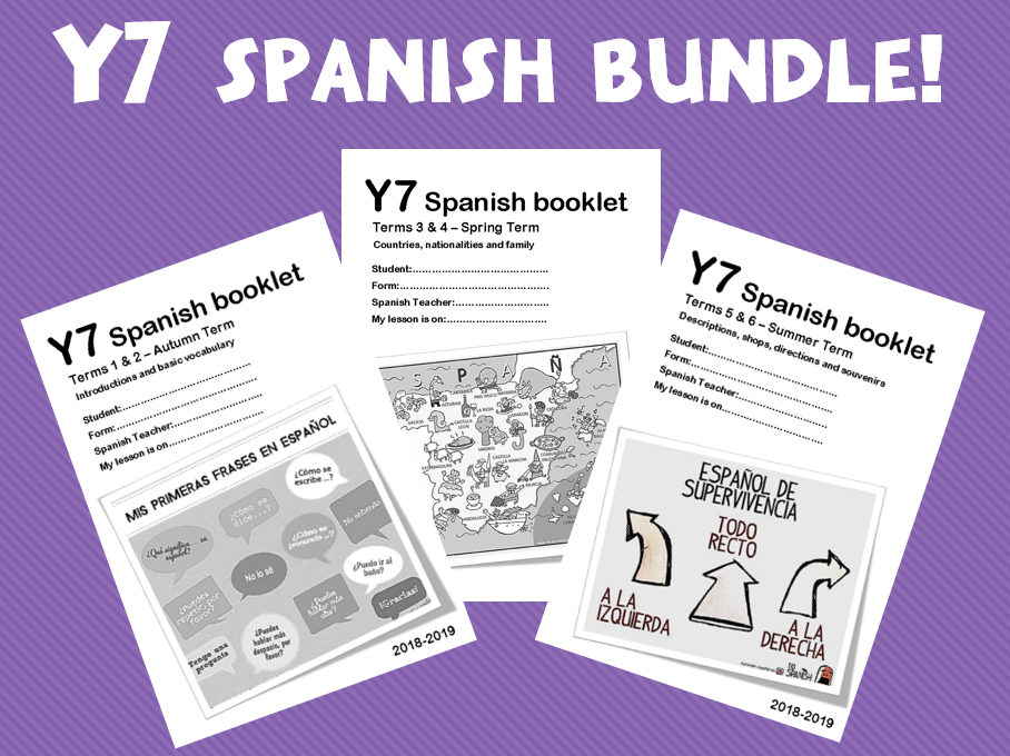 Y7 Spanish Booklets