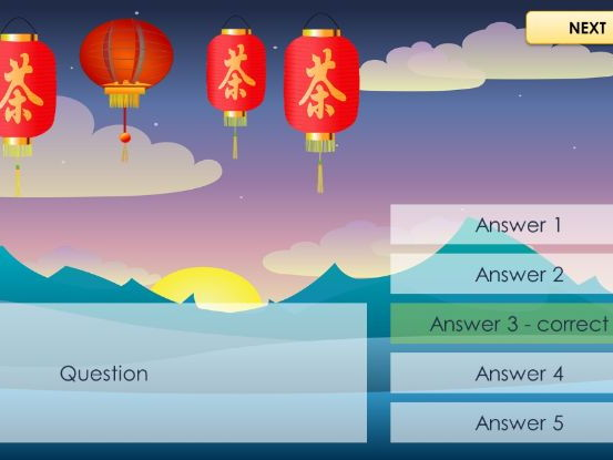 Lantern Quiz - PowerPoint Template