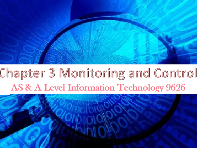 Question organized by chapter for the CIE AS, A level (9626) paper1. Ch3 Monitoring and Control