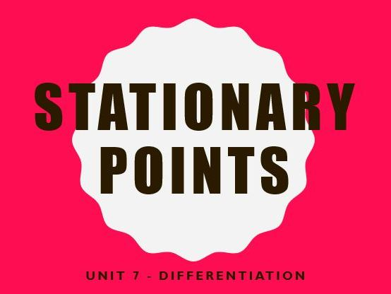Differentiation: Stationary points