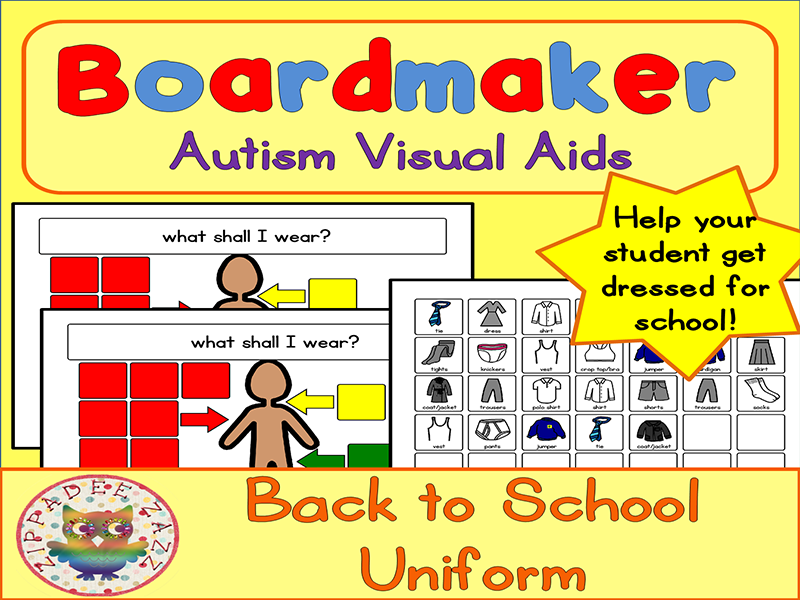 Back to School Visual Aids School Uniform - Boardmaker Visual Aids for Autism PECS