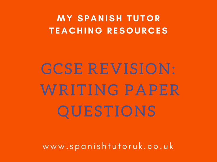 GCSE Sample Writing Papers - All Modules