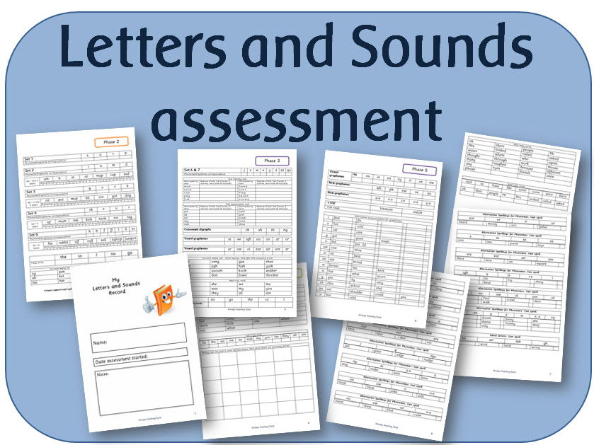 Letters and Sounds Phonics tracking assessment booklet Phases 2 - 6