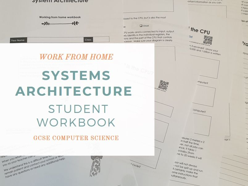 Coronavirus (COVID-19) Home Learning - Systems Architecture Workbook