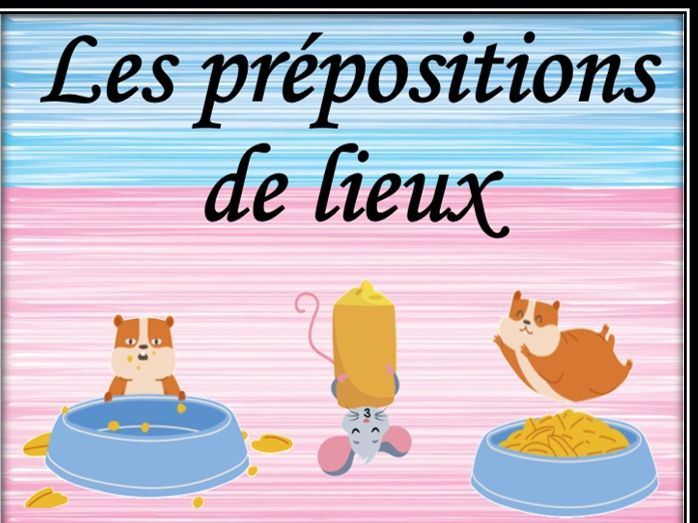 French prepositions of place. Listening game.