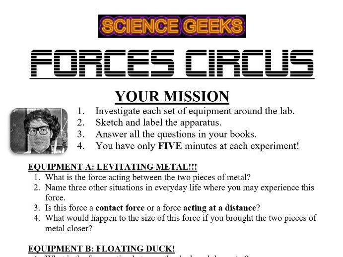 FORCES INVESTIGATION CIRCUS!