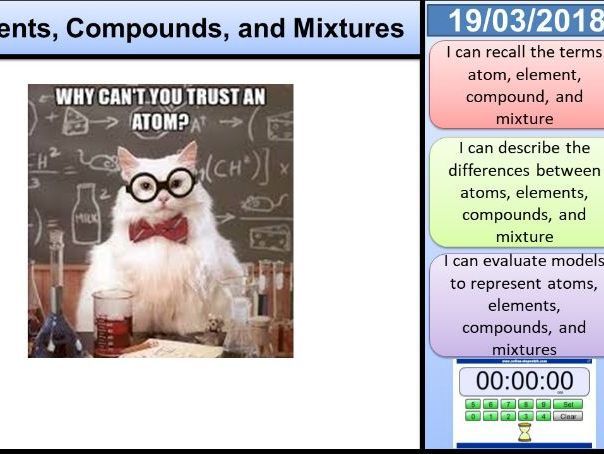 Atoms, Elements, Compounds, and Mixtures KS3 Activate