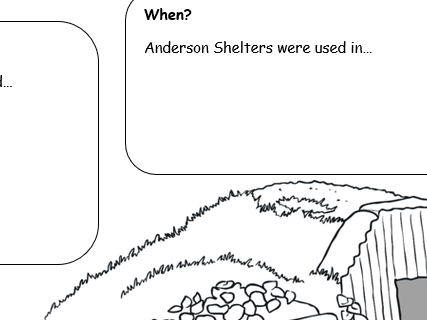 Anderson Shelter Research Sheet