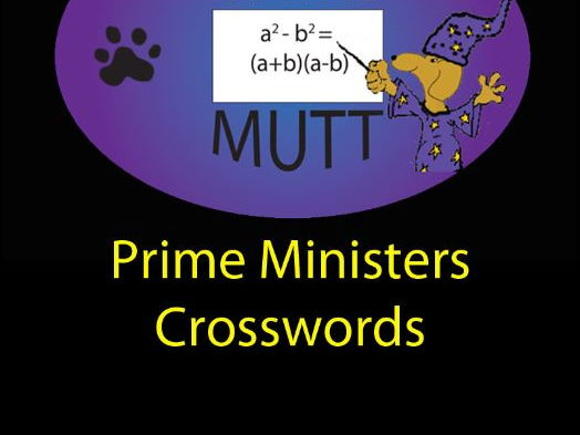 Pooch Puzzles: Prime Ministers Crosswords