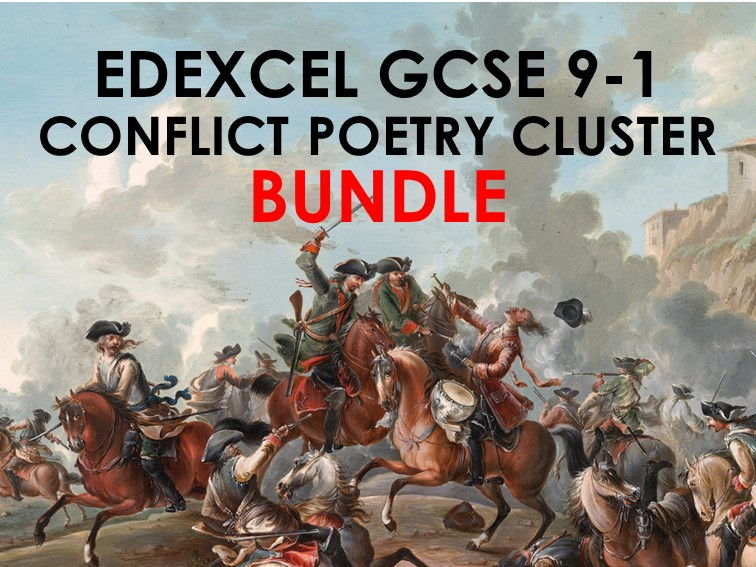 COMPLETE BUNDLE Edexcel Conflict Poetry Cluster GCSE 9-1 - All 15 Poems!
