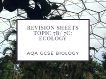 AQA GCSE Biology Revision Sheets on Ecology