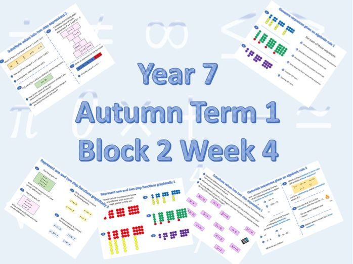 Planning for White Rose Maths Secondary Autumn Term 1 Block2 Week 4 Understanding and Using Notation