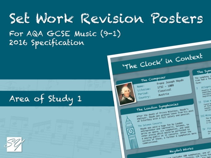 Set Work Revision Posters for AQA GCSE Music (2016 Specification) - Area of Study 1