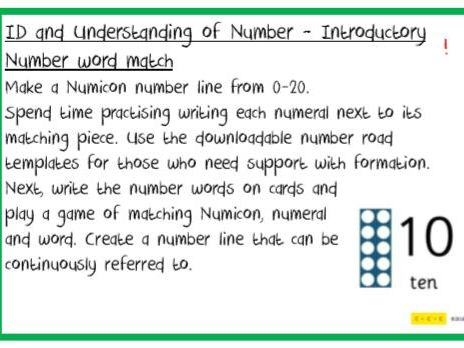ID & Understanding of Number Challenges F2 to Y6