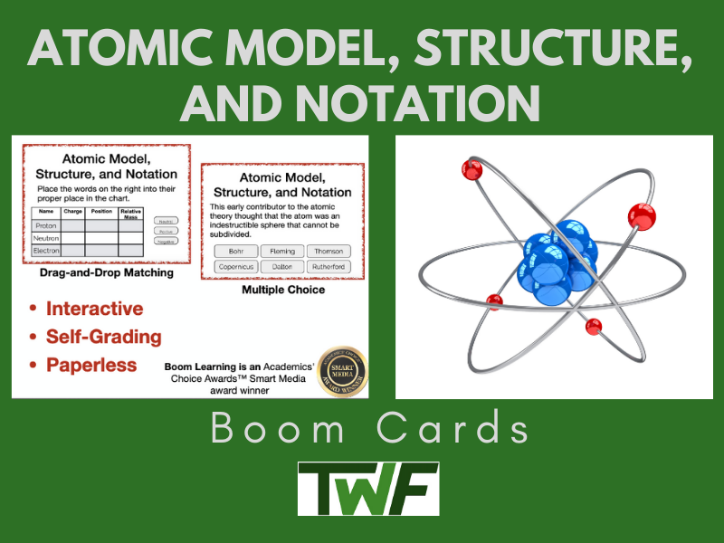 Atomic Structure and Notation Boom Cards